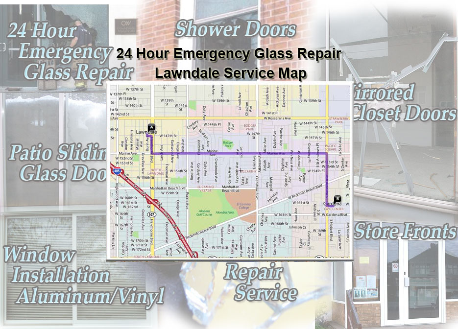 24 Hour Emergency Glass Repair Window Installation/Glass Shower Doors/Store Fronts/Sliding Glass Patio Doors LawndaleService Map
